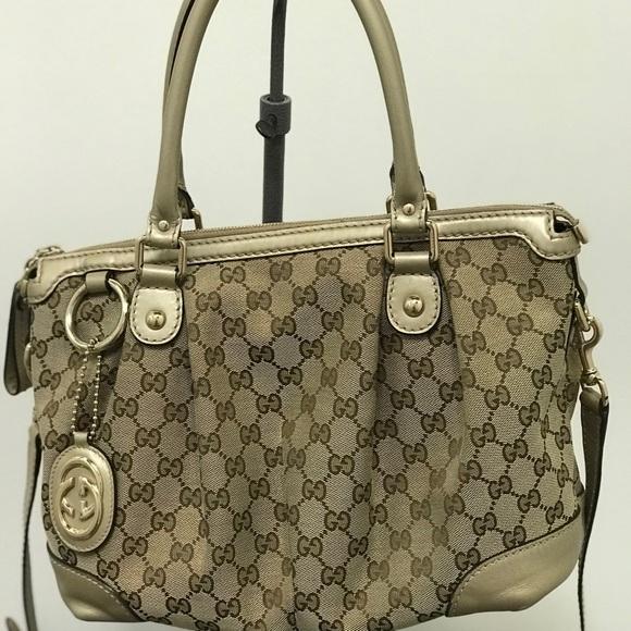 Gucci Handbags - Gucci GC Canvas Medium Sukey
